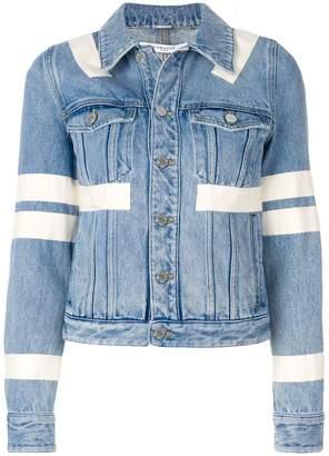 striped embellished jacket