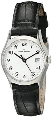 Claude Bernard Women's 54003 3 BB Classic Ladies Analog Display Swiss Quartz Black Watch