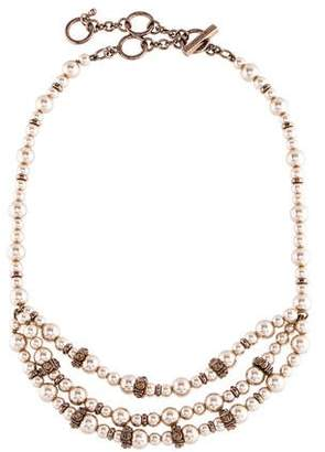 Givenchy Faux Pearl & Crystal Collar Necklace