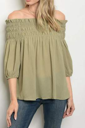 Casting Olive Blouse