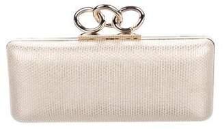 Diane von Furstenberg Metallic Sutra Box Clutch