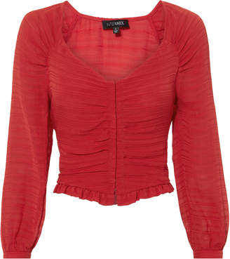 Intermix Lillian Shirred Blouse