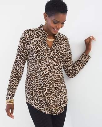 Silky Soft Leopard-Print Shirt