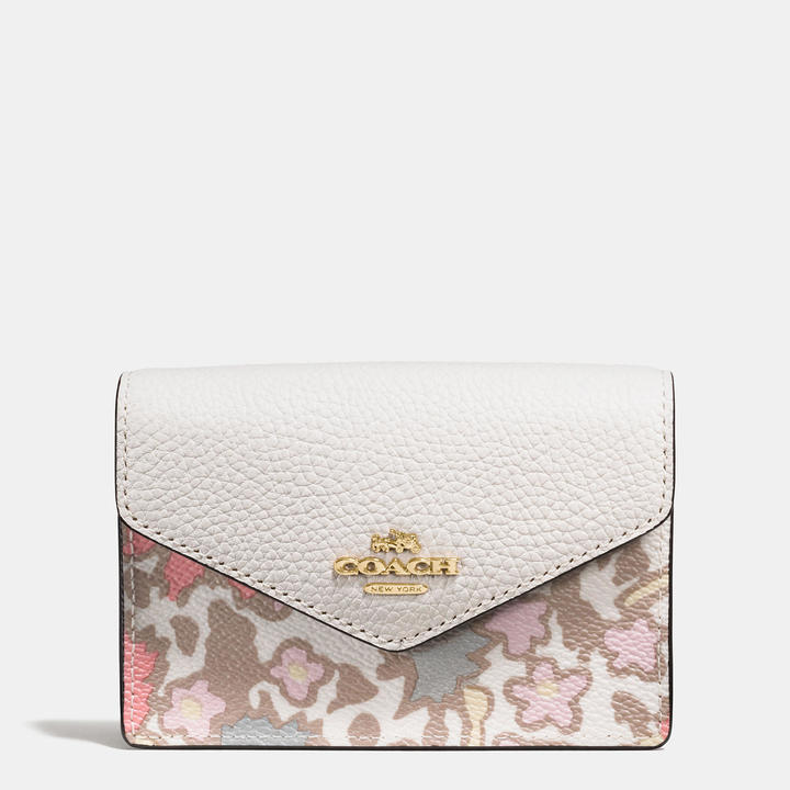 Coach   COACH Coach Envelope Card Case In Yankee Floral Print Coated Canvas