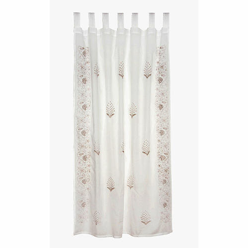Tadpoles Indian Summer Embroidered Curtain Panel
