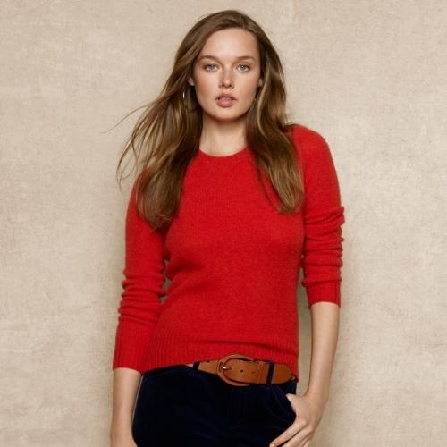 Ralph Lauren Blue Label Suede-Patch Wool Sweater