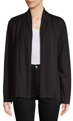 Halston H Mixed-Media Open Handkerchief Jacket