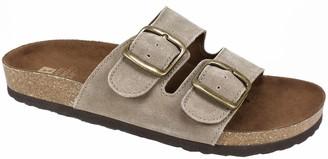White Mountain Leather Slide Sandals - Helga