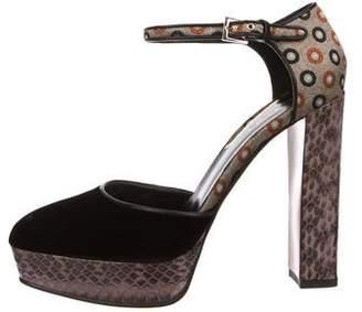 Etro Snakeskin Platform Sandals
