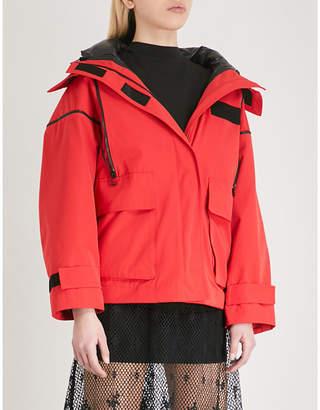 Mo&Co. Hooded woven jacket