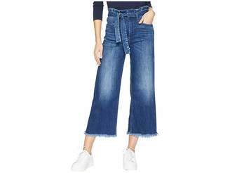 Paige Sutton Crop Jeans with Paperbag Waistband in Marcielle