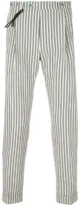 Berwich striped tapered trousers