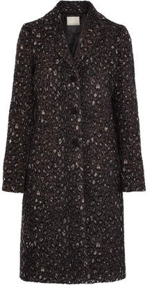 By Malene Birger Glittha Leopard-jacquard Coat - Black