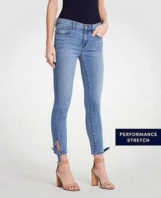 Ann Taylor Curvy Ankle Tie All Day Skinny Crop Jeans