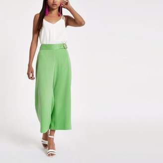 River Island Womens Petite green wide leg culottes