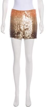 Haute Hippie Silk Sequined Skirt