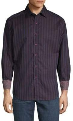 Robert Graham Fort Crown Vertical Stripe Sport Shirt