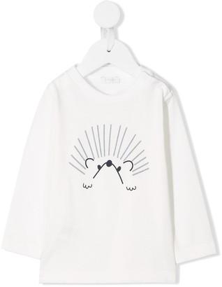 Il Gufo hedgehog print long-sleeve top