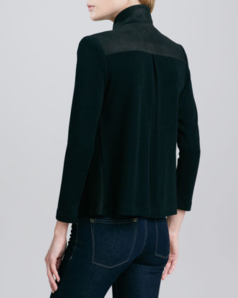 Alice + Olivia Gladys Stretch-Silk Top