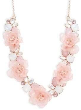 Ava & Aiden Crystal Flower Bib Necklace