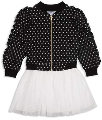 Pippa & Julie Girls' Ruffle Star Bomber Jacket & Layered-Look Dress Set - Baby
