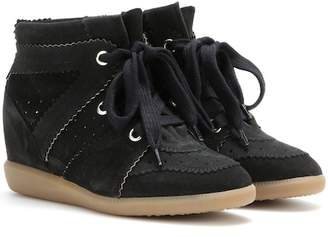 Isabel Marant Bobby suede wedge sneakers