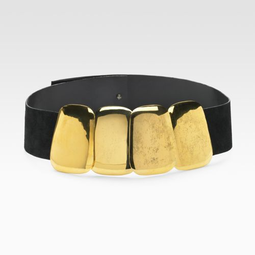 Donna Karan Gold Conch Belt