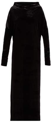 Norma Kamali All In One Velvet Dress - Womens - Black