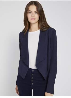 Alice + Olivia Harvey Open Front Suede Jacket