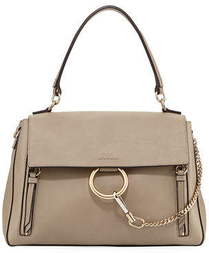 Chloé Faye Day Mixed Flap Medium Shoulder Bag