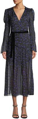 Diane von Furstenberg Ani Floral-Print Smocked Silk Wrap Dress