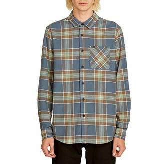 Volcom Men's Caden Flannel Plaid Long Sleeve Shirt