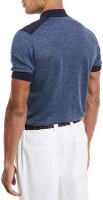 Brunello Cucinelli Short-Sleeve Polo Sweater