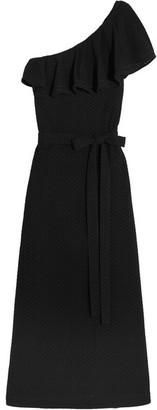 Lisa Marie Fernandez - Arden One-shoulder Polka-dot Cotton-voile Maxi Dress - Black $825 thestylecure.com