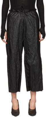 MM6 MAISON MARGIELA Black Drawstring Trousers
