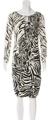 Blumarine Long Sleeve Knee-Length Dress