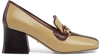 26f21f058 Gucci Zumi leather mid-heel loafer