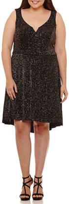 B. Darlin Bee Darlin Bee Smart Sleeveless Party Dress-Juniors Plus