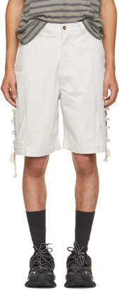 Acne Studios Off-White Bla Konst Kling M Shorts