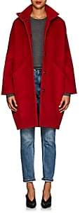 Zero Maria Cornejo Women's Bea Cotton Corduroy Cocoon Coat - Red