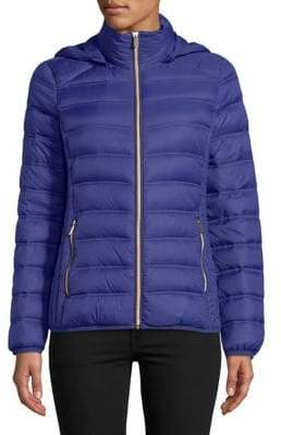 "MICHAEL Michael Kors THE COAT EDIT 25"" Short Packable Sapphire Jacket"