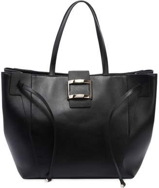 Roger Vivier Large Viv' Leather Tote Bag