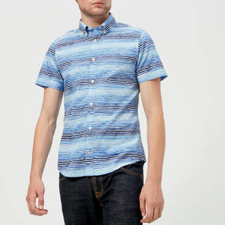 Tommy Hilfiger Men's Watercolour Stripe Short Sleeve Shirt