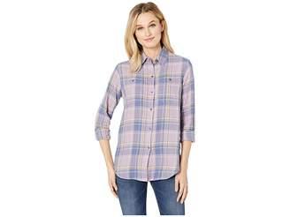 Chaps Yarn-Dye Twill Long Sleeve Shirt Women's Clothing