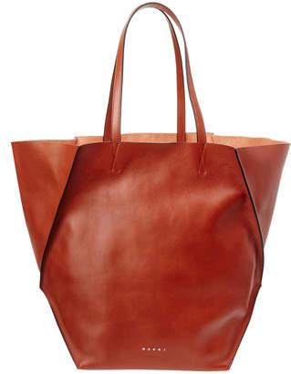 Marni Top Handle Leather Shopper Tote