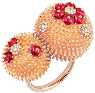 Cartier Pink Gold Duo Cactus de Ring