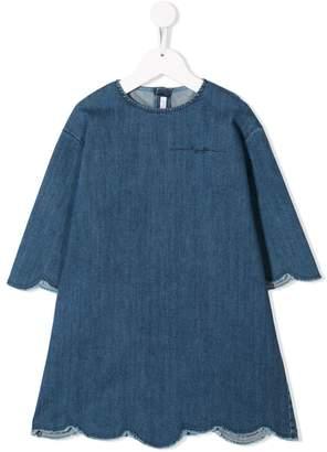 Il Gufo denim flared dress