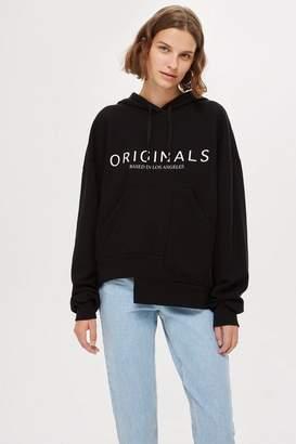 Topshop 'Originals' Logo Hoodie