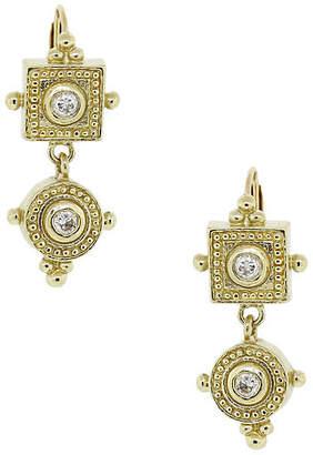 One Kings Lane Vintage Gold - Diamond Grecian Drop Earrings - Raymond Lee Jewelers