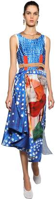 Marni Printed Patchwork Midi Dress